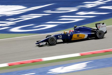 Felipe Nasr of Sauber racing during practice session on Friday April 17 2015 Formula 1 Gulf Air Bahrain Grand Prix 2015