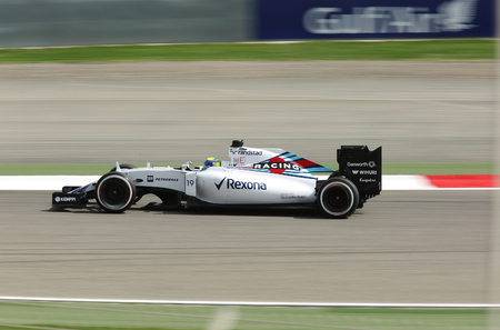 Felipe Massa of Williams racing during practice session on Friday April 17 2015 Formula 1 Gulf Air Bahrain Grand Prix 2015