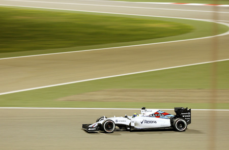 formula 1: Felipe Massa of Williams racing during Final day on Sunday April 19 2015 Formula 1 Gulf Air Bahrain Grand Prix 2015