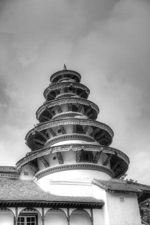 closed community: Beautiful round tower architecture in Nasal Chowk Courtyard of Hanuman Dhoka Durbar Square Editorial