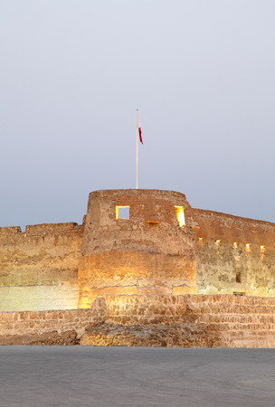 moat wall: Arad fort lighting in the evening