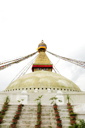 buddhist structures: Beautiful dome of Swayambhunath Stupa