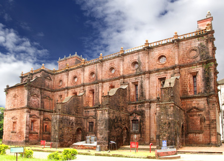 st  francis: Northern wall of Basilica of Bom Jesus church Goa