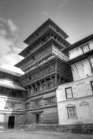 closed community: The beautiful nine storeys Basantapur Tower in Nasal Chowk Courtyard