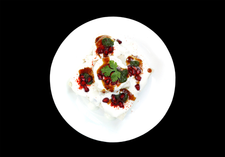 chaat: Delicious bread dahi vada from top