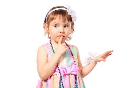 Psst girl silence forbidden secret finger mouth photo