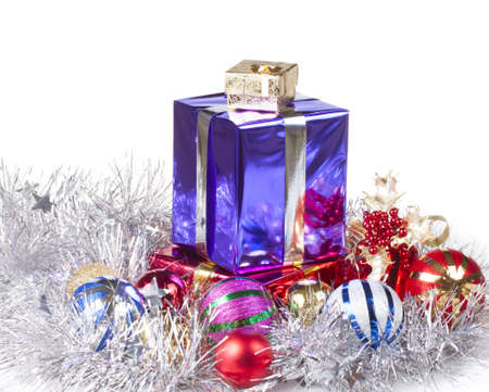Some colored beautiful boxes with christmas gifts photo