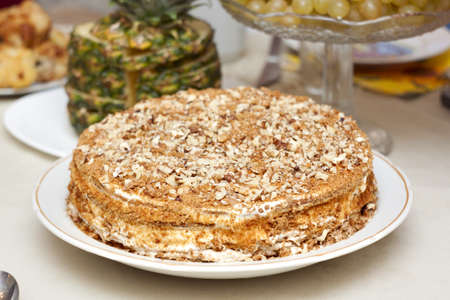 Honey cake is entirely on the holiday table