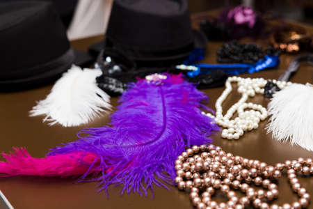 black boa: Womens Accessories for partying in gangster style
