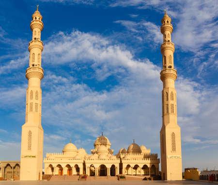 Exterior of El Mina Masjid Mosque in Hurghada, Egypt