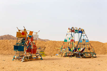 traditional climbing: Playground for children in the Bedouin village
