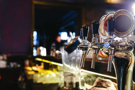 bartending: Bartender tools at the bar in club