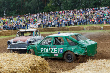 GRODNO, BELARUS - AUG 13: Car fighting for survival on August 13, 2016 in Grodno, Belarus
