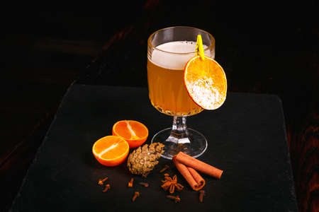 tipple: Mulled wine white honey. Traditional fall hot drink.