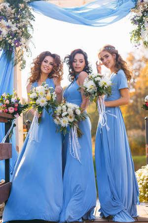 pierce: Bridesmaids in park