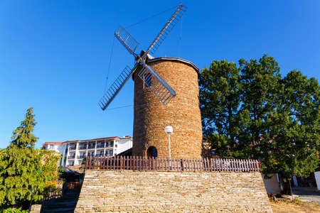 Nessebar, Bulgaria - September 02, 2016: Restaurant Windmill is authentic place for resting tourists.