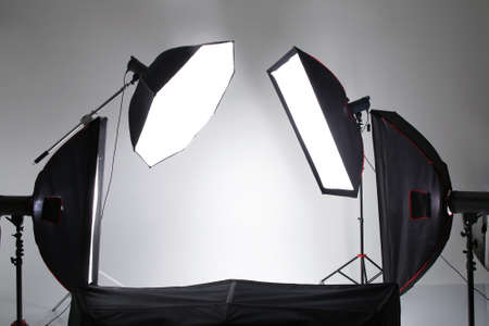 Backstage from studio shooting of any object Stock Photo