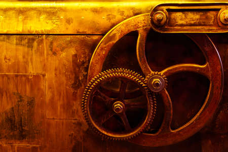 background vintage steampunk with rusty metal gear