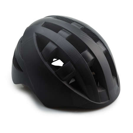 Side View of Kids Bike Helmet Isolated On White Background Stock Photo