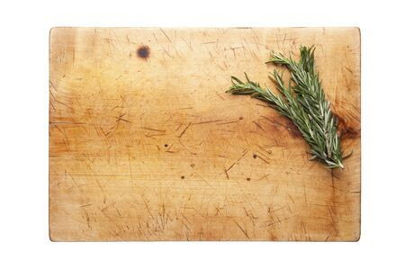Rosemary on cutting board