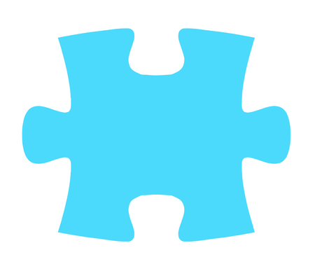piece: Isolated Puzzle Piece Two - fit together with piece one Illustration