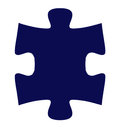 perfect fit: Isolated Puzzle Piece One - fit together with piece two Illustration