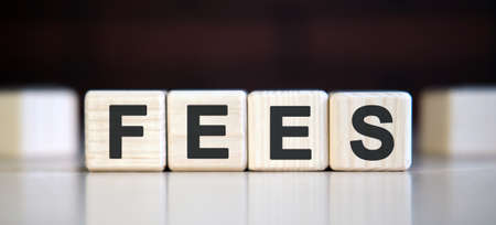 FEES - financial business concept. Blocks of wood cubes Stock fotó - 151947641