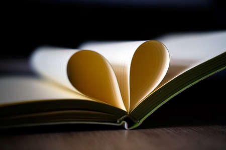 Love heart from the sheets of the book