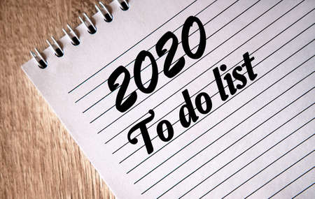 A list of cases for 2020 on a piece of notebook
