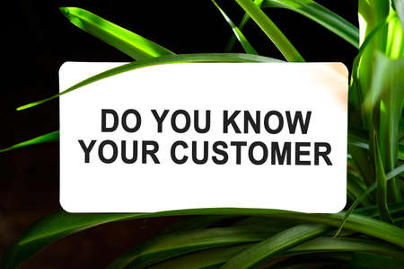 Do You Know Your Customer text on white surrounded by green leaves