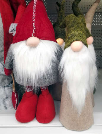 Toy figure of Santa Claus for New Year's interior