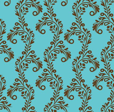 ringlet: Seamless twiddles pattern on cyan background