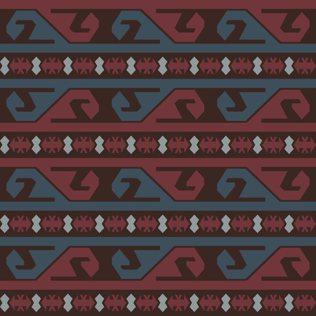 saved: Seamless tribal colored pattern. Saved in swatches. Illustration