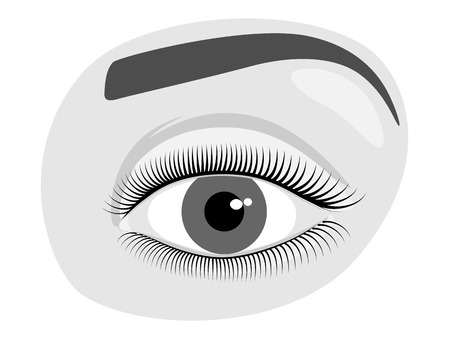 Vector illustration. Anatomy of a human eye. Close-up and macro view. For advertising and medical publications. EPS 8.