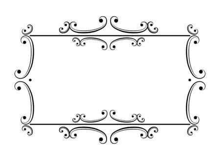 Vector illustration. Vintage retro frame for page, menu, invitation, congratulation design