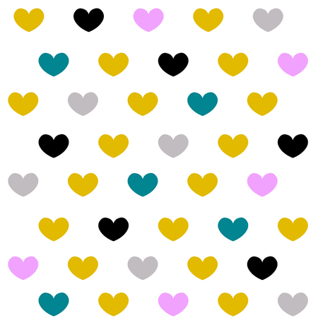 Vintage hearts backgrounds set. Applicable for covers, placards, posters, flyers and banner designs. Vector illustration.
