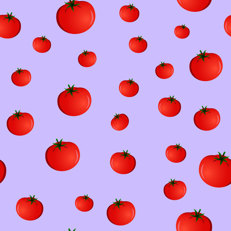 seamless pattern with tomatoes on a purple background Illustration