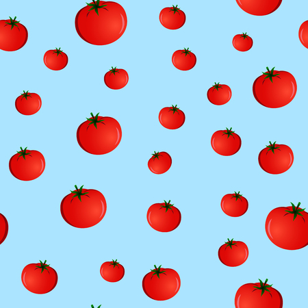 seamless pattern with tomatoes on a blue background