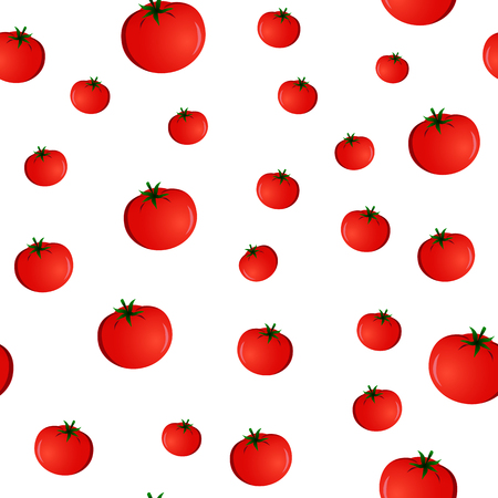 seamless pattern with tomatoes on a white background