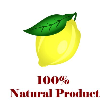 100 percent natural lemon.