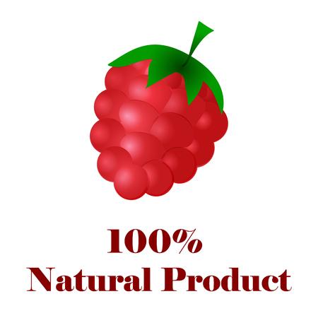 100 percent natural raspberries.