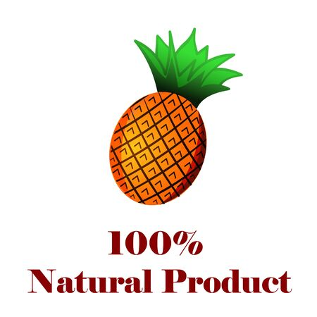 100 percent natural product a pineapple.
