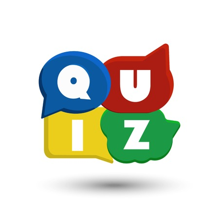 Quiz interesting color vector illustration on white background Imagens