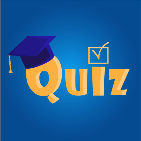 Quiz interesting color vector illustration on white background Ilustração