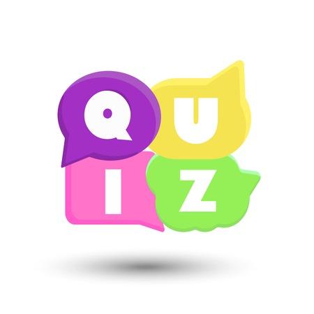 Quiz color vector illustration on white background Reklamní fotografie