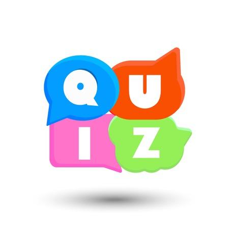 Quiz color vector illustration on white background Illusztráció