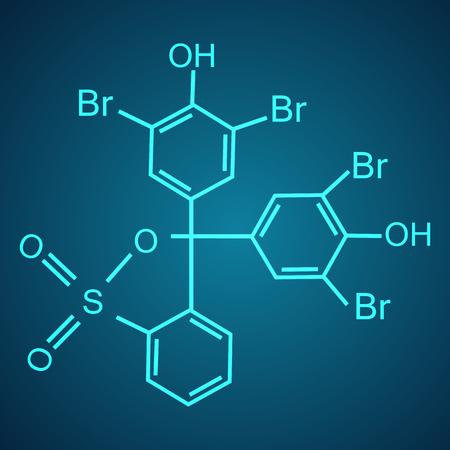 Chemical formula consisting of benzene rings. Vector illustration