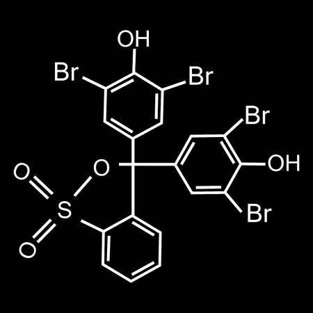 Chemical formula consisting of benzene rings, hexagon. Vector illustration