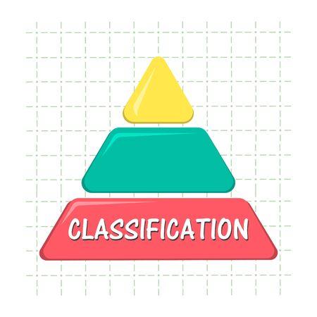 Classification, data analysis, data management icon. Vector illustration on white background.