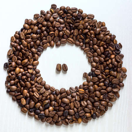 coffee cup grain black on a white background photo
